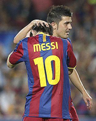 Foto: Eto'o, Ibrahimovic, Villa... Messi no soporta que le hagan sombra