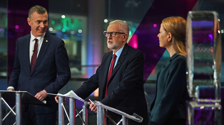 Jeremy Corbyn en un debate electoral. (Reuters)