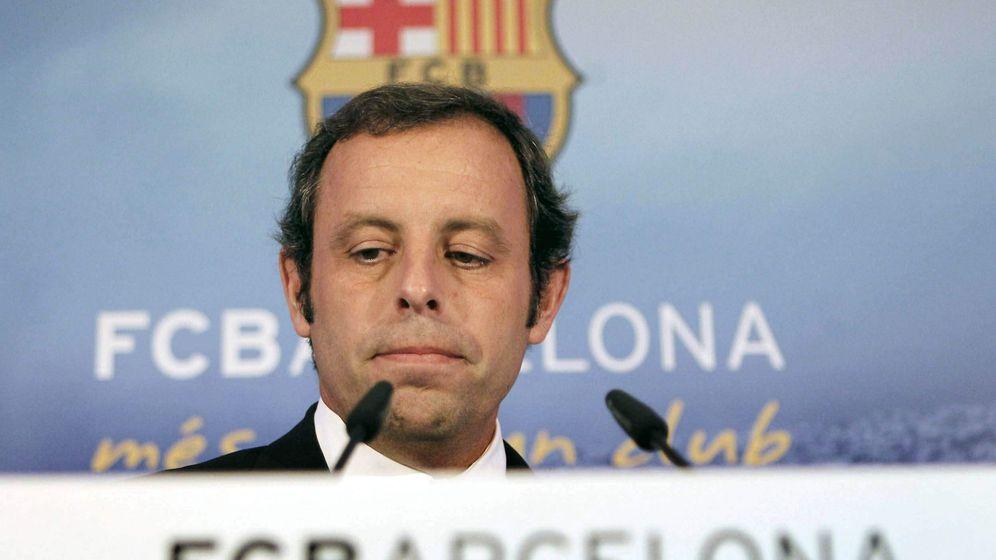 Foto: El presidente del F.C.Barcelona, Sandro Rosell. (EFE)