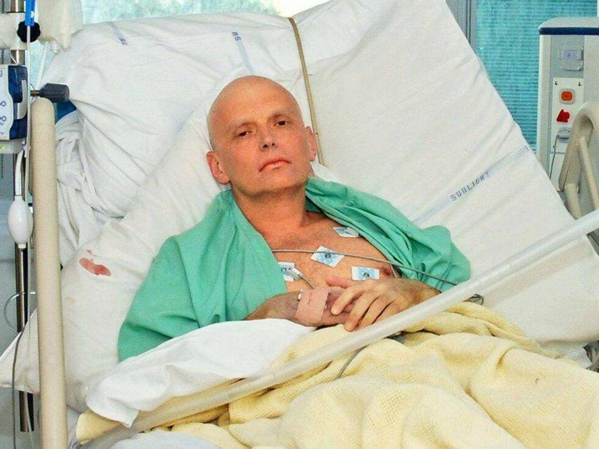 Foto: Aleksander Litvinenko, antes de morir por envenenamiento.