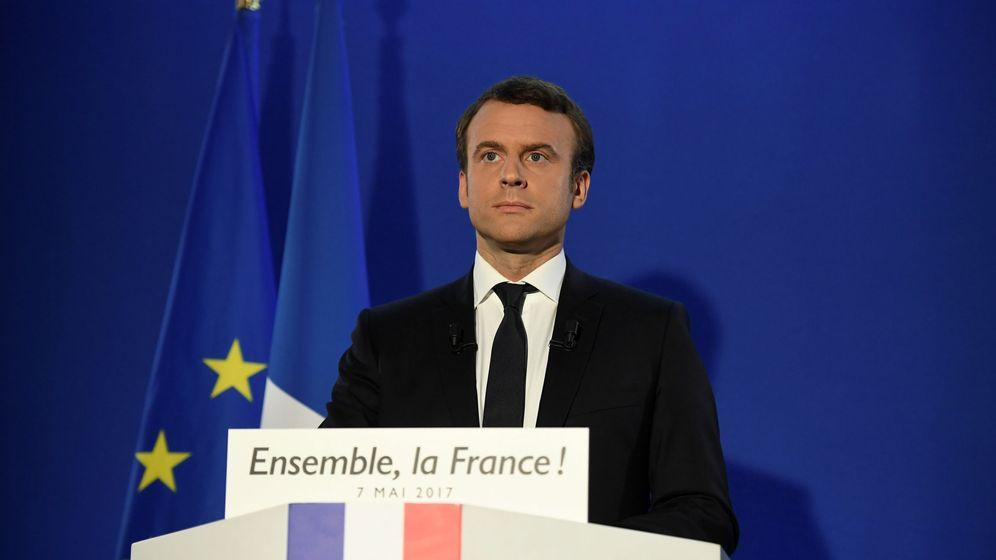 Foto: Emmanuel Macron, durante su primer discurso ya como presidente de Francia. (Reuters)