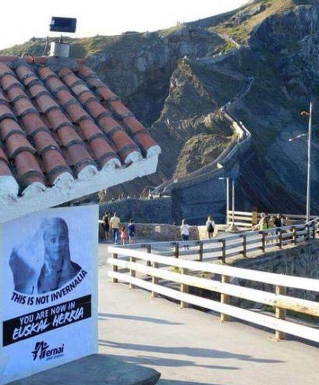 Foto: La pintada que ha aparecido firmada por la formación vasca Ernai