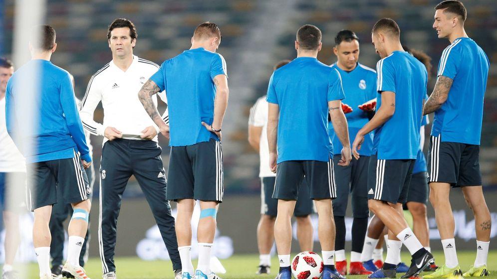 Foto: Solari, en un entrenamiento. (EFE)