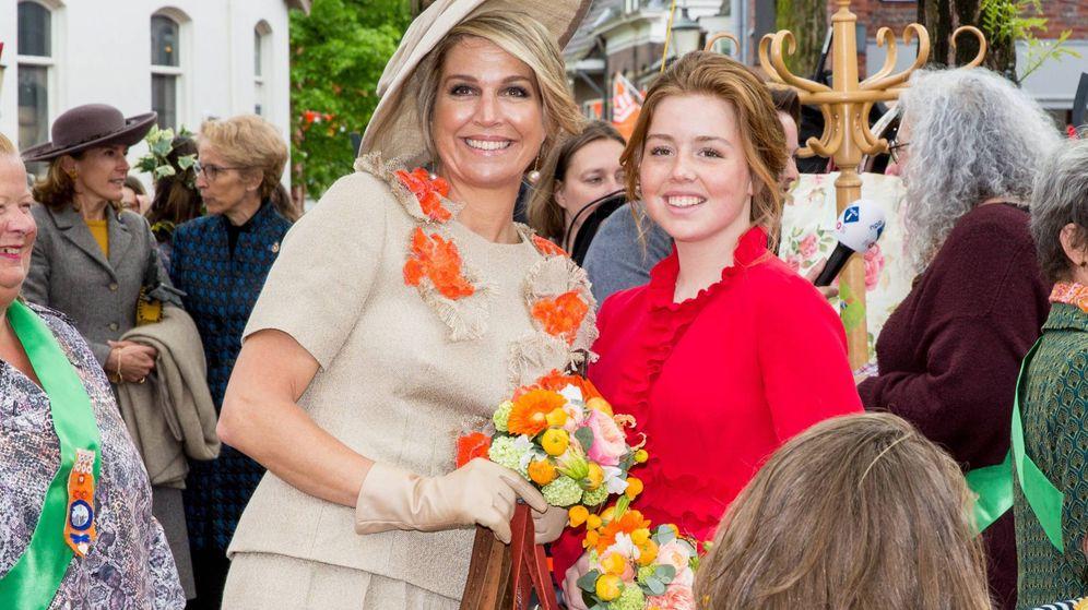 Foto: La reina Máxima y la princesa Alexia en el Día del Rey. (Cordon Press)