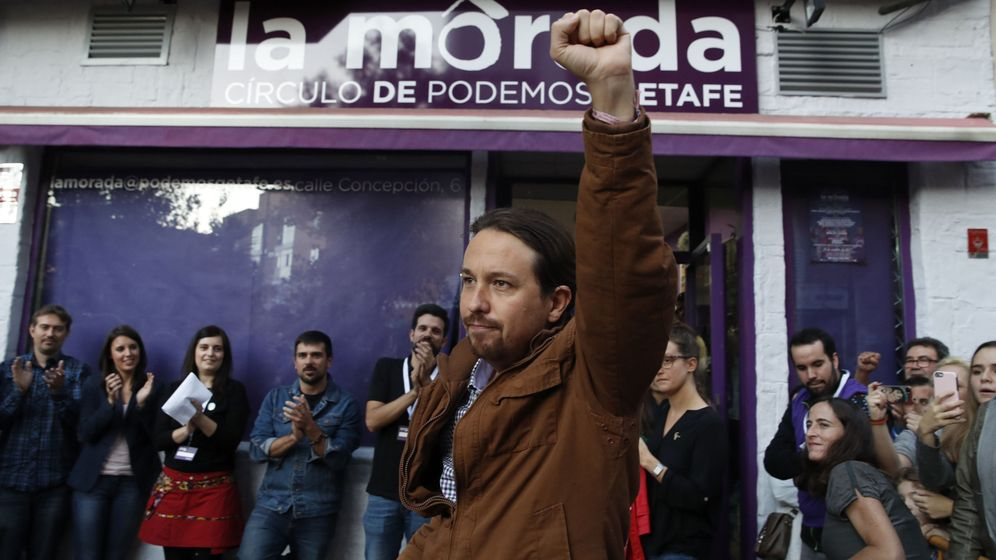 Foto: El secretario general de Podemos, Pablo Iglesias, a su llegada a un acto del partido en Getafe la pasada semana. (EFE)