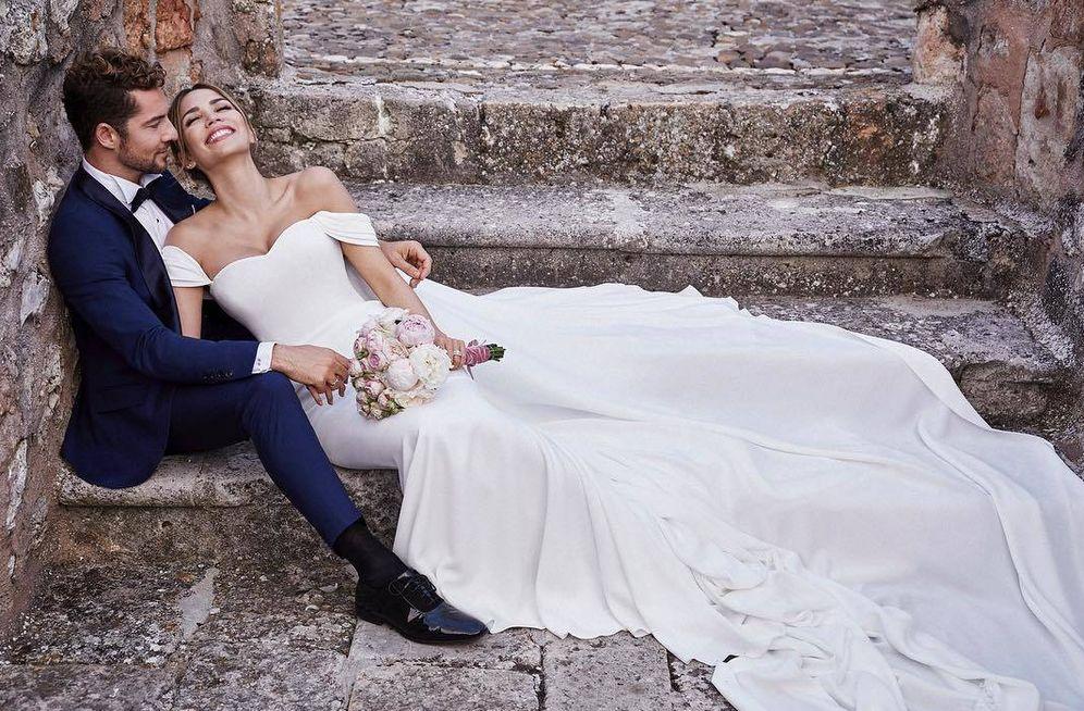 Foto: David Bisbal y Rosanna Zanetti en su boda. (Instagram)