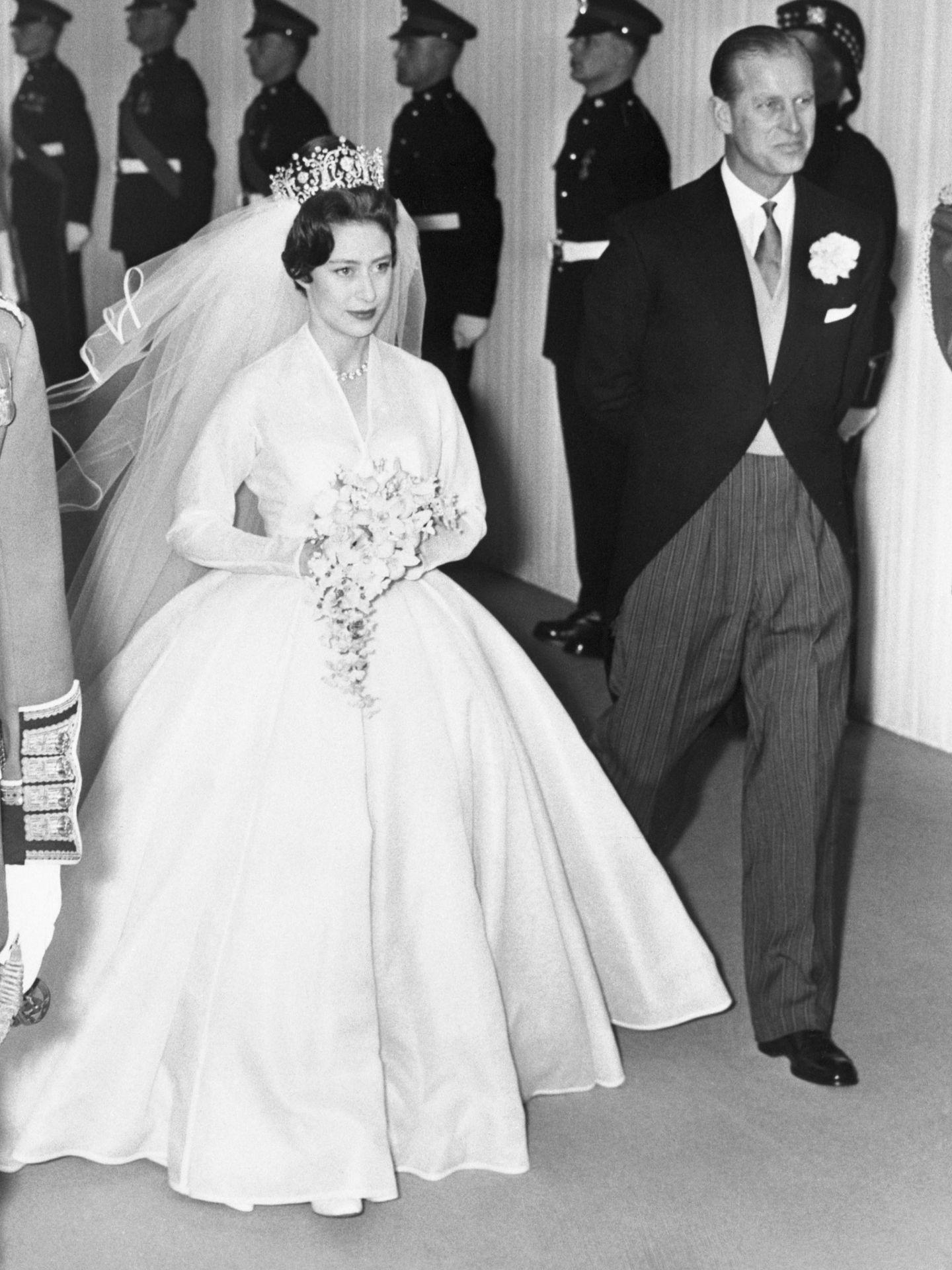 La princesa Margarita, con el duque de Edimburgo. (Getty)