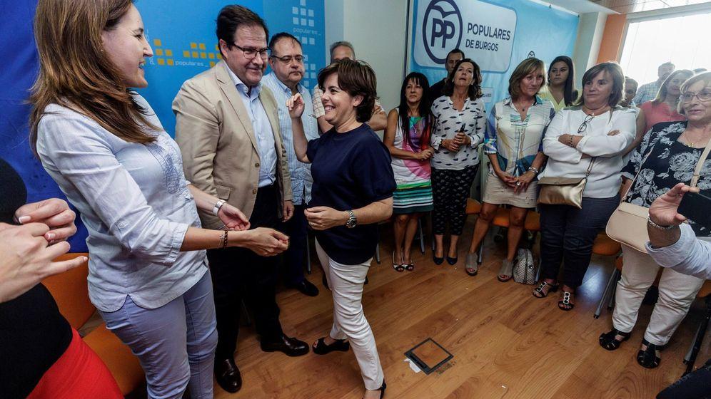 Foto: Soraya Sáez de Santamaría en un acto de campaña en Burgos | EFE