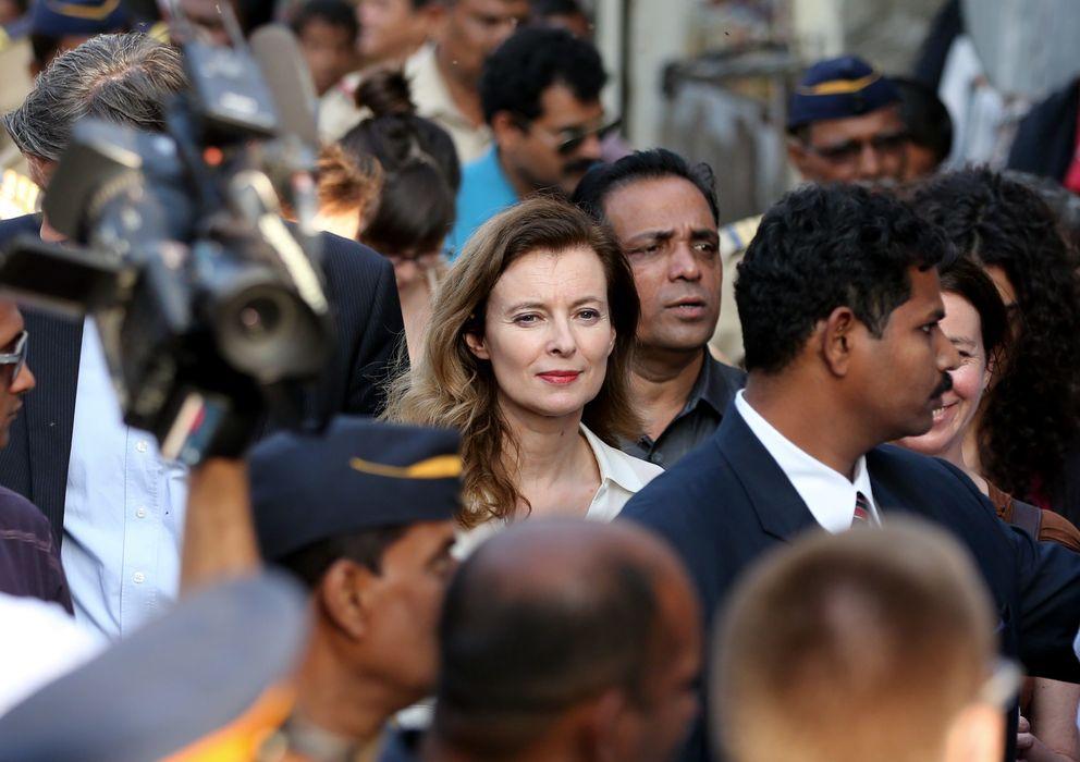 Foto: Valérie Trierweiler en India el pasado mes de enero. (Gtres)