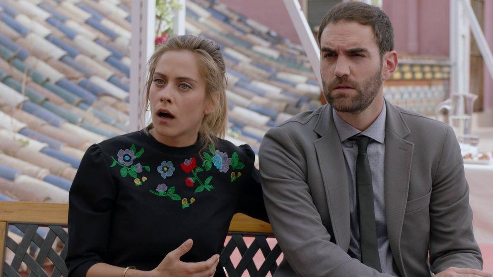 Foto: María León y Jon Plazaola, protagonistas de 'Allí abajo'.