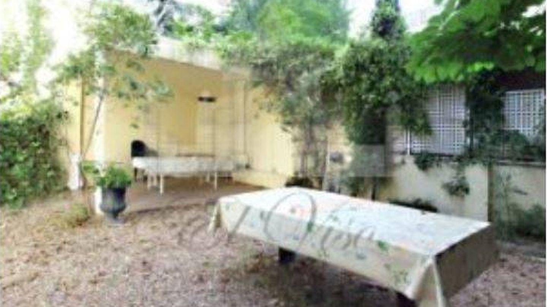 Jardín de la mansión de José María Aznar en El Viso.