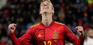 Post de Dani Olmo, la joya que cortejaron Barça y Atleti y que acabó en una multinacional