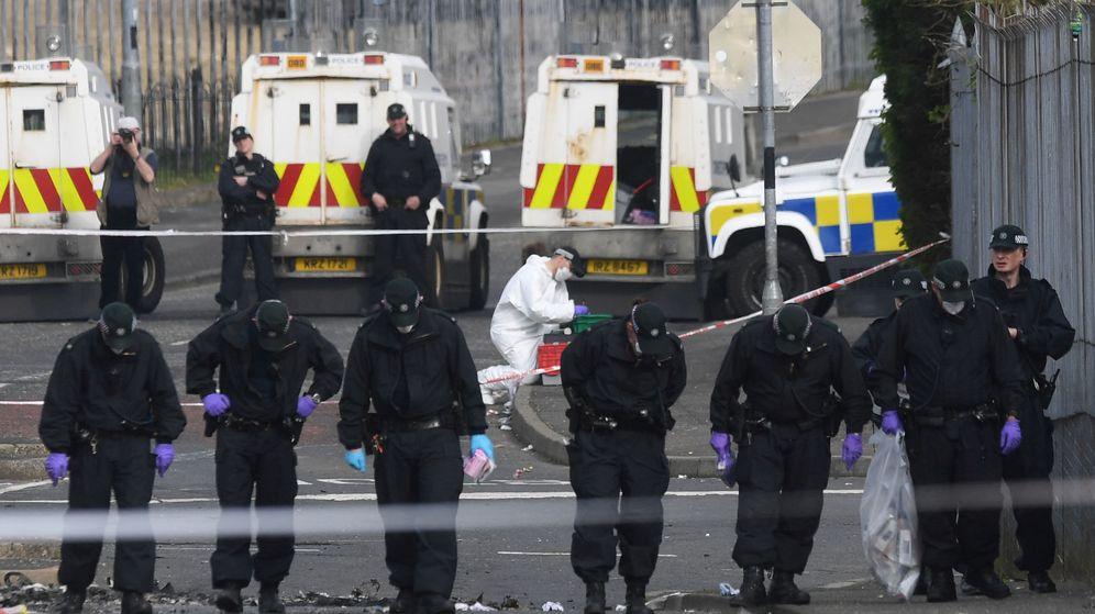 Foto: La escena del crimen contra Lyra McKee. (Reuters)