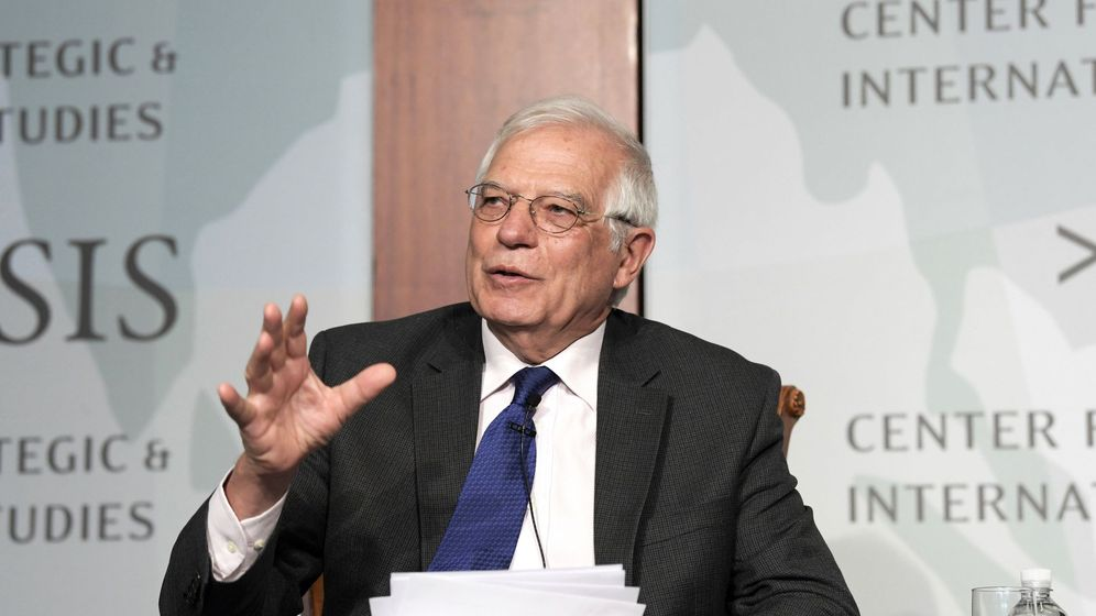 Foto: El ministro español de Asuntos Exteriores, Josep Borrell, este lunes durante una ponencia en el Centro de Estudios Estratégicos e Internacionales (CSIS) de Washington. (EFE)