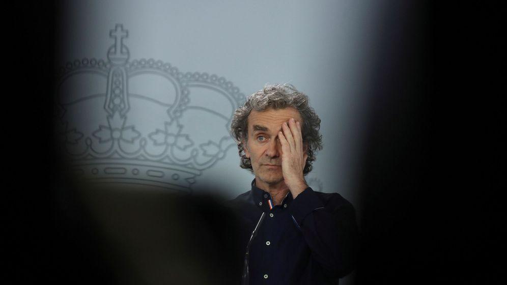 Foto: Fernando Simón, durante una de sus comparecencias diarias. (EFE)