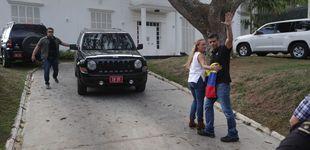 Post de Efectivos del Sebin, frente a la residencia del embajador español en Venezuela