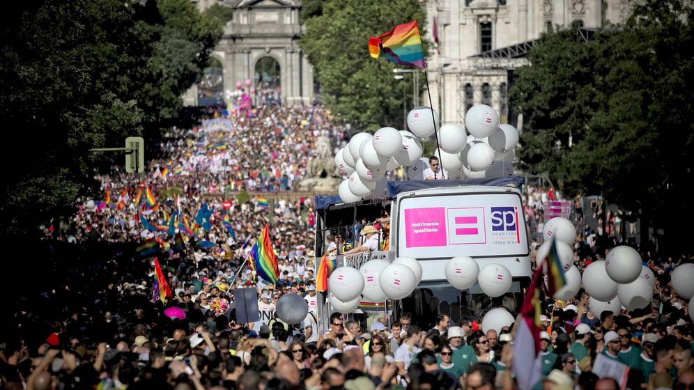 Foto: Manifestación del Orgullo Gay celebrada en Madrid. (EFE)