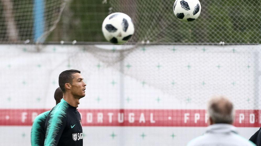 Foto: Portugal, en un entrenamiento en Rusia. (EFE)