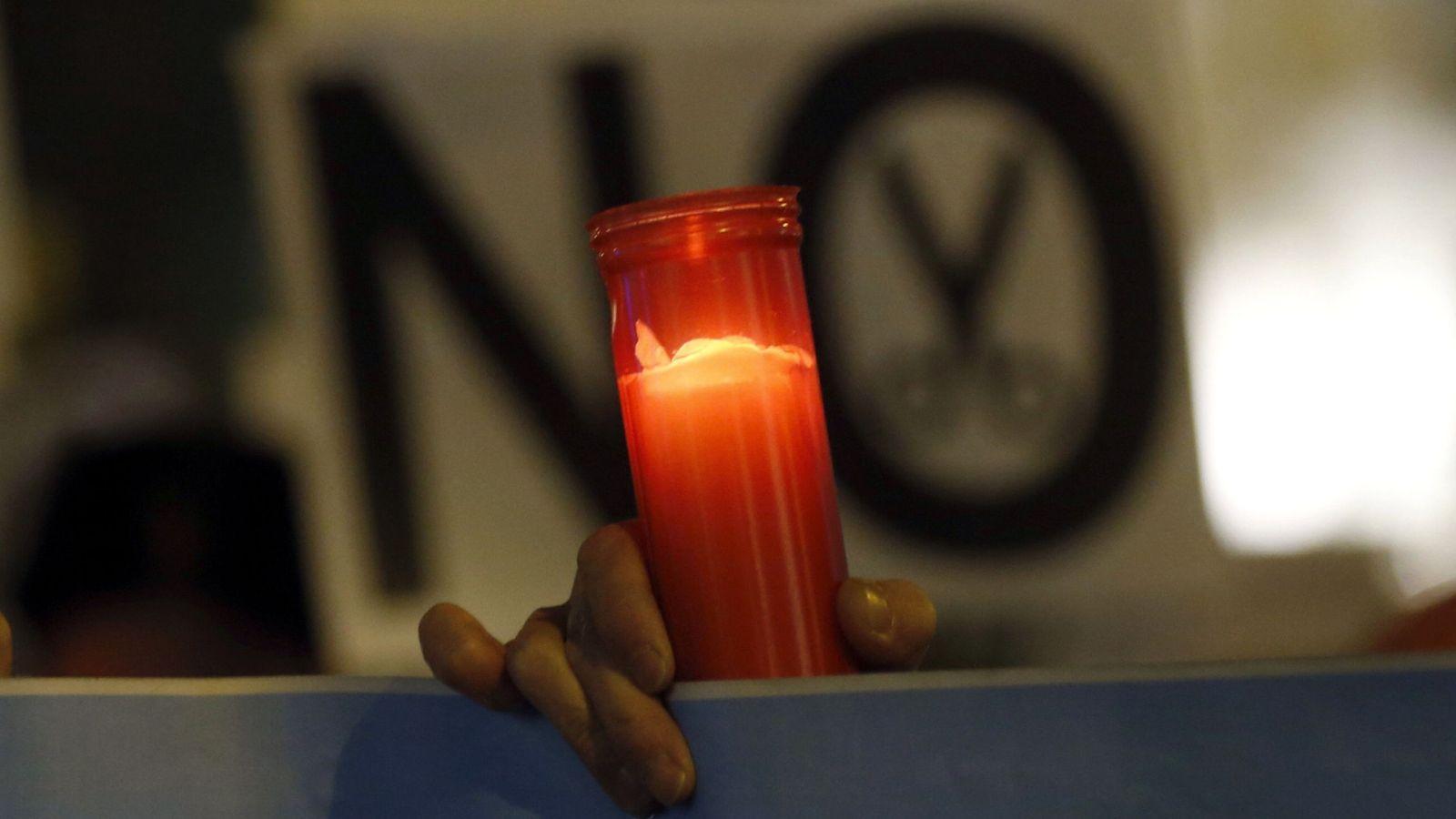 Foto: Foto de manifestación contra la pobreza energética. (EFE)