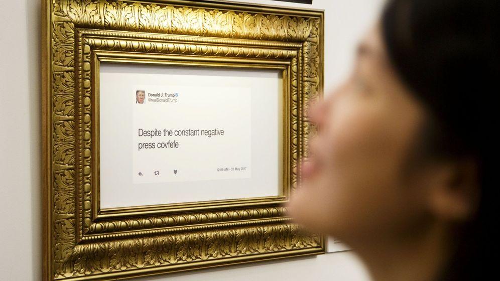 Foto: Inauguran una exposición con los tuits de Donald Trump (Justin Lane / EFE)
