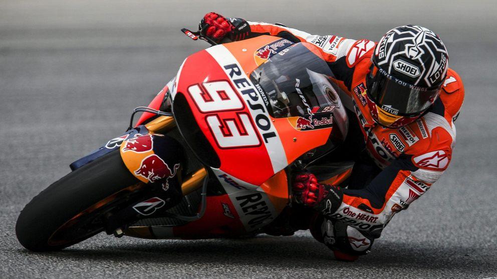 Márquez arregla sus problemas con los frenos y marca el mejor tiempo