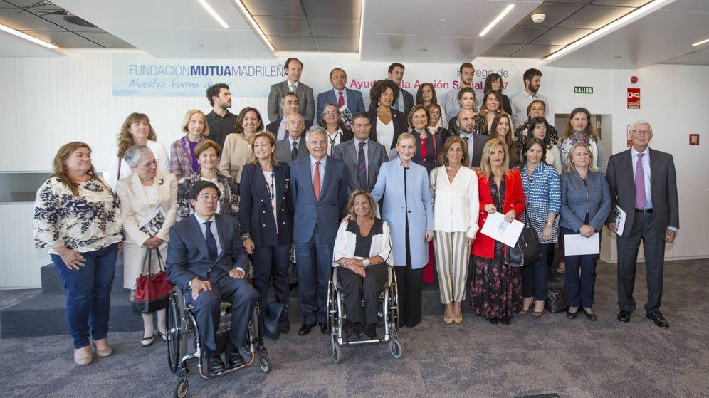 Foto: Entrega de ayudas en la Fundación Mutua Madrileña. (MM)