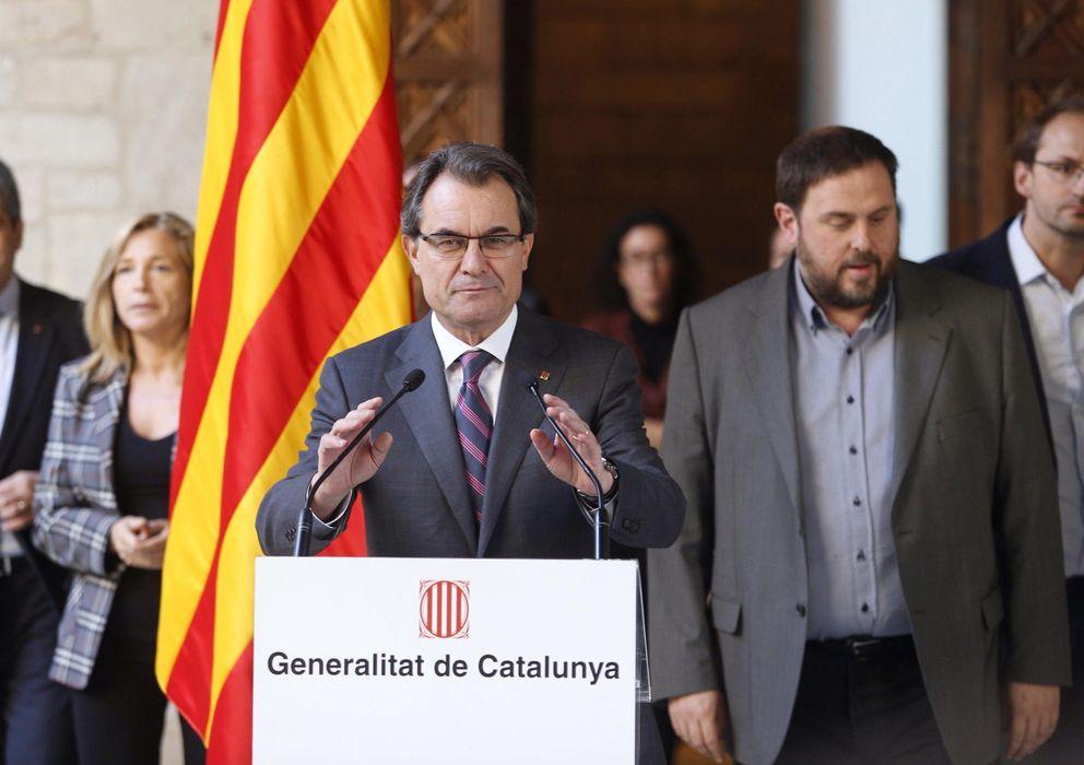 Foto: Mas pacta la pregunta de la consulta soberanista con  ERC, ICV-EUiA y la CUP. (EFE)