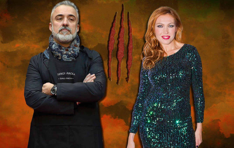 Foto: Sergi Arola y Silvia Fominaya en un fotomontaje realizado en Vanitatis