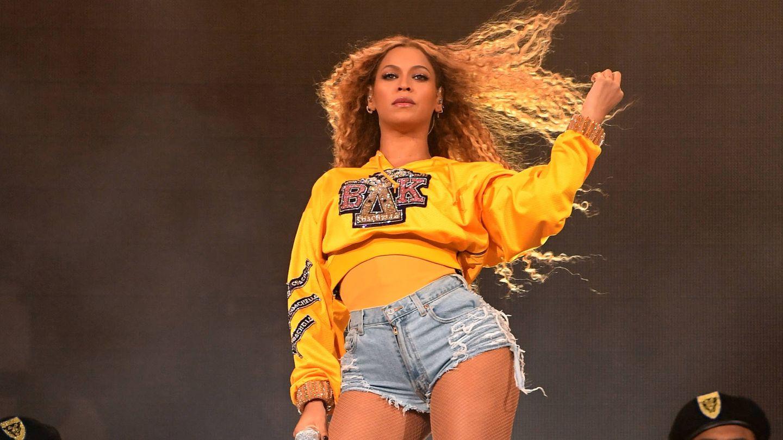 Beyoncé durante su actuación en Coachella 2018. (Getty)