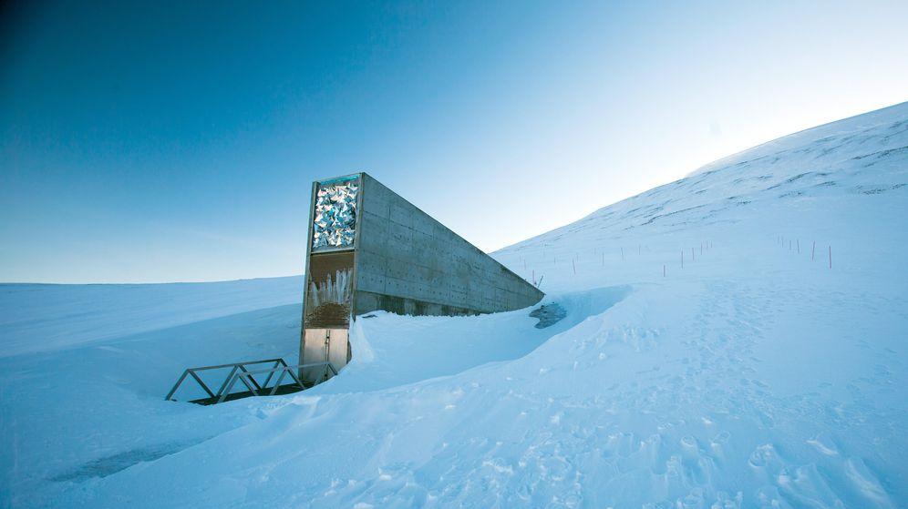Foto: El banco de semillas es una auténtica caja fuerte, en medio del Ártico. (Corbis)