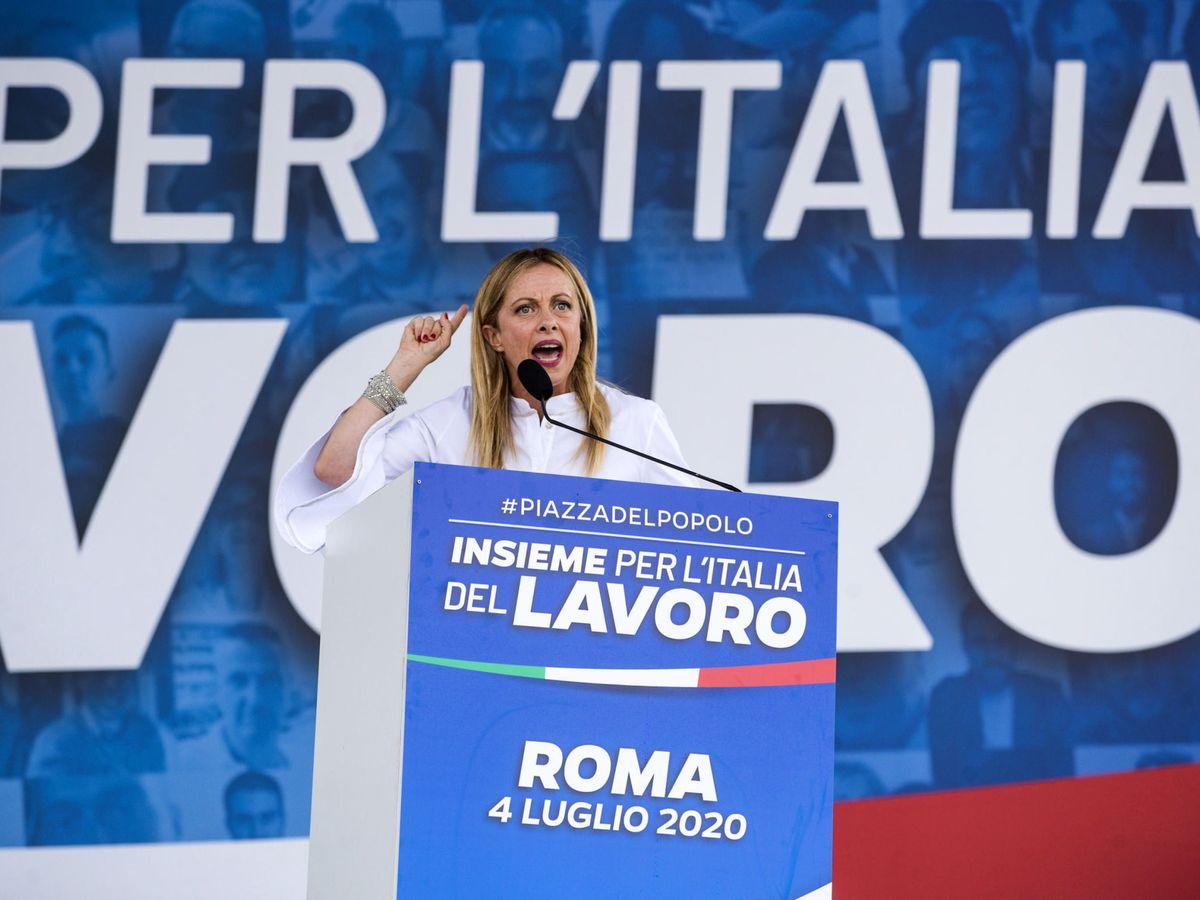 Foto: Giorgia Meloni, líder de los Hermanos de Italia. (EFE)