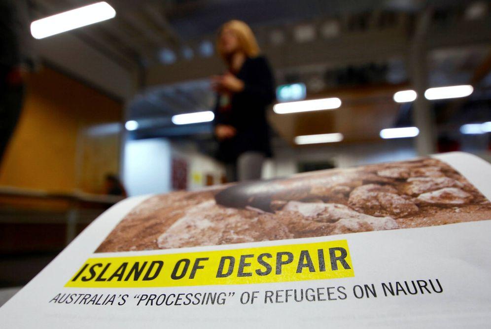 Foto: Anna Neistat, directora de investigación de Amnistía Internacional, durante una rueda de prensa en Sídney, Australia. (Reuters)