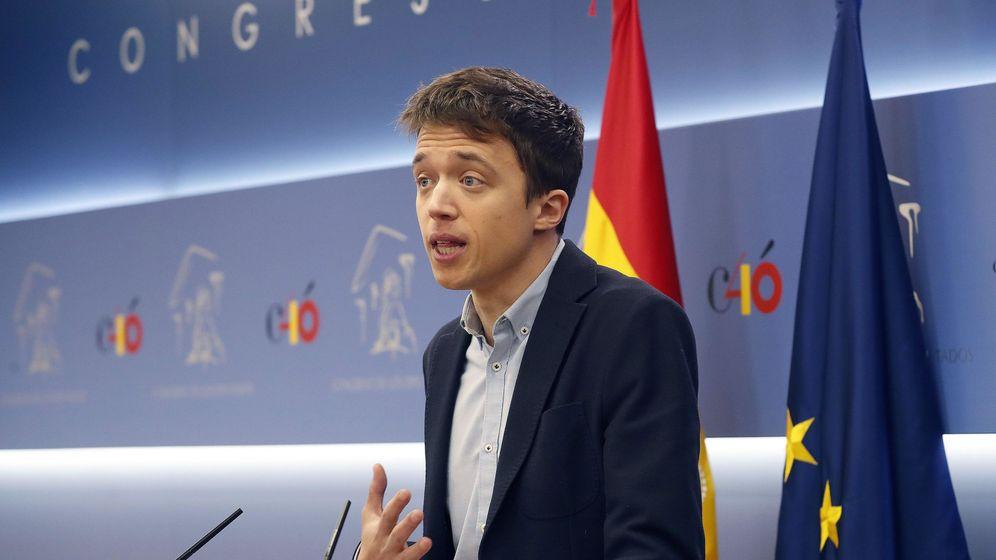 Foto: Errejón, al anunciar que deja el escaño. (EFE)