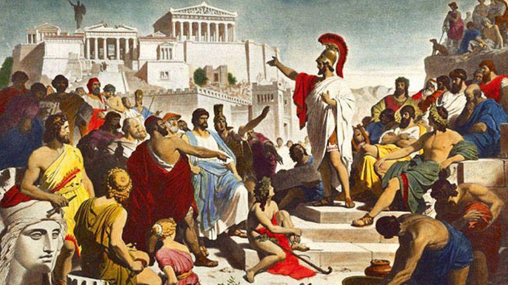 Foto: Pericles se dirige a la asamblea de Atenas
