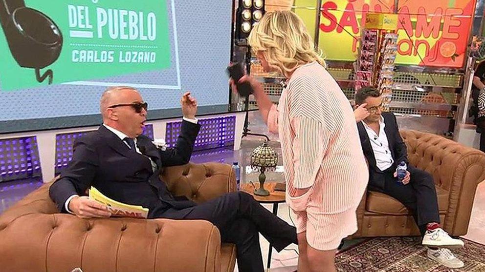 Mila Ximénez estalla contra Carlos Lozano y abandona 'Sálvame'
