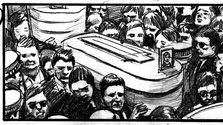 Ilustración del storyboard de '75 días'.