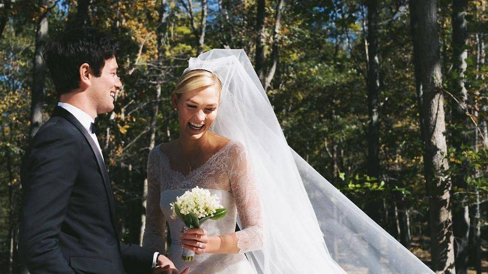 Foto: Karlie Kloss junto a su ya marido. (Instagram)