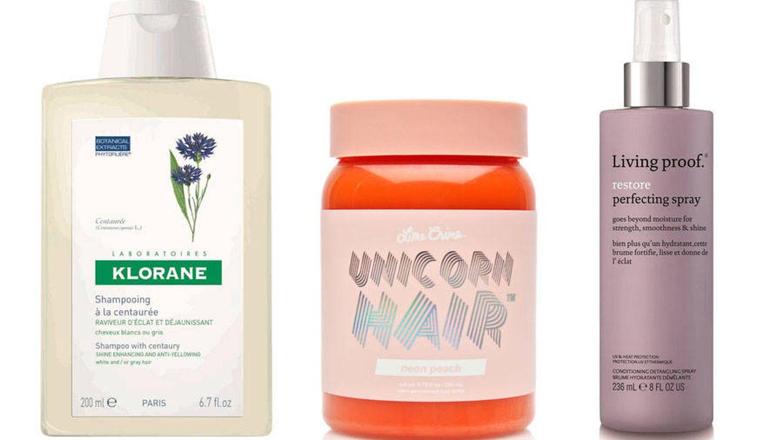Productos para cabello rubio o teñido.