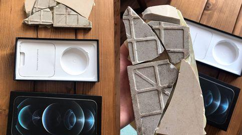 Compra un iPhone 12 Pro Max y le mandan un paquete con un azulejo roto