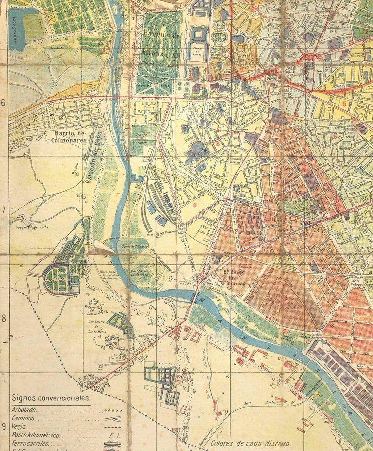 Foto: Plano de Madrid tal y como era en 1930.