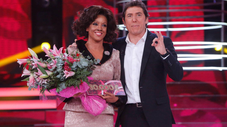 Manel Fuentes con Ruth Lorenzo, ganadora de 'Tu cara me suena 4'.