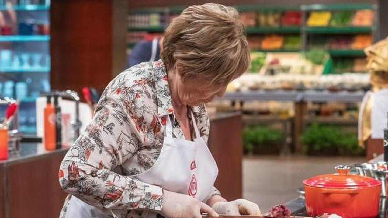 Celia Villalobos, en el primer programa de 'MasterChef'. (TVE)