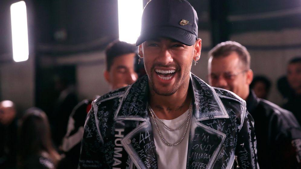Foto: Neymar, feliz y sonriente. (Efe)