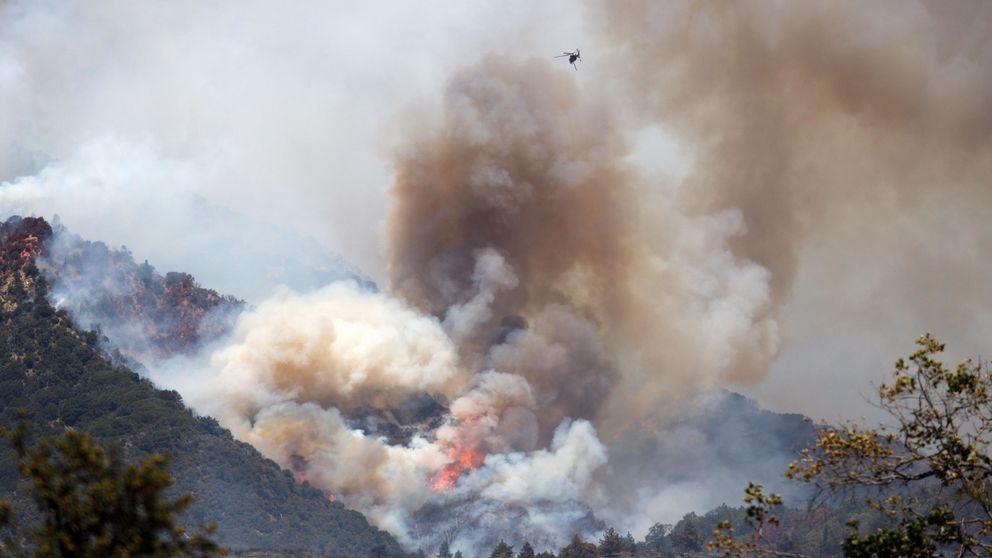 Una manzana de fuego: así es el incendio que está arrasando California