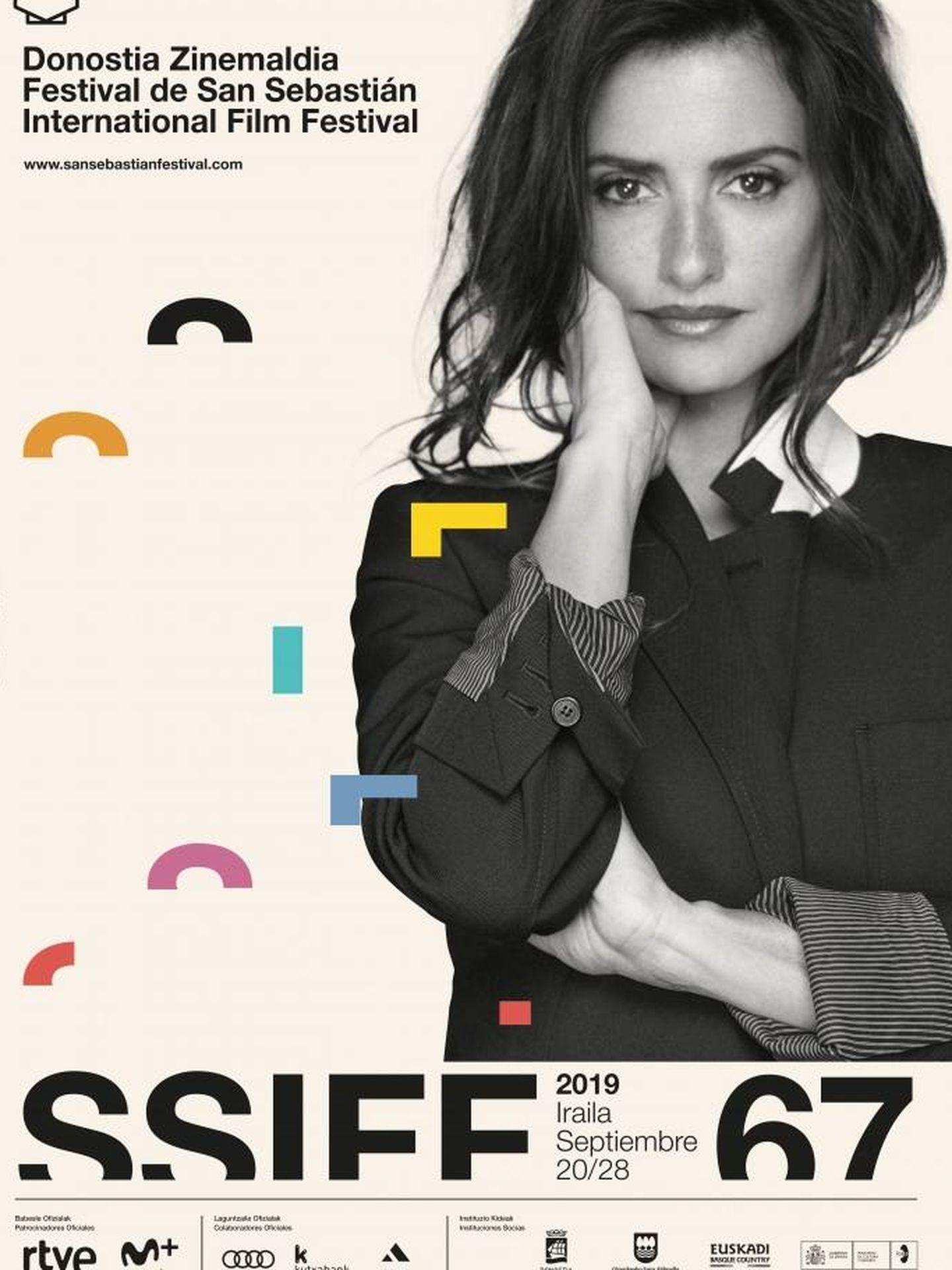 Penélope Cruz en el cartel del Festival de cine de  San Sebastián. (SSIFF)