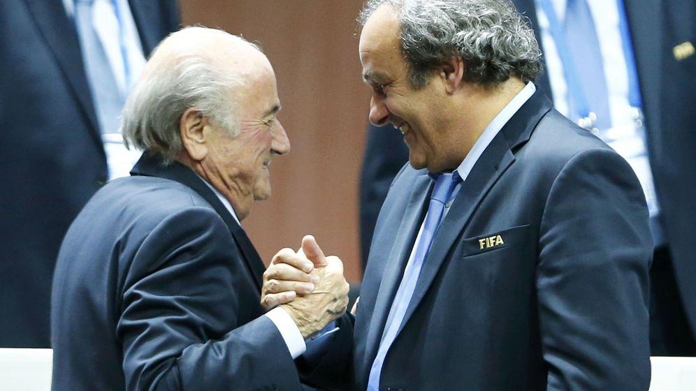 Foto: Blatter y Platini (Reuters)