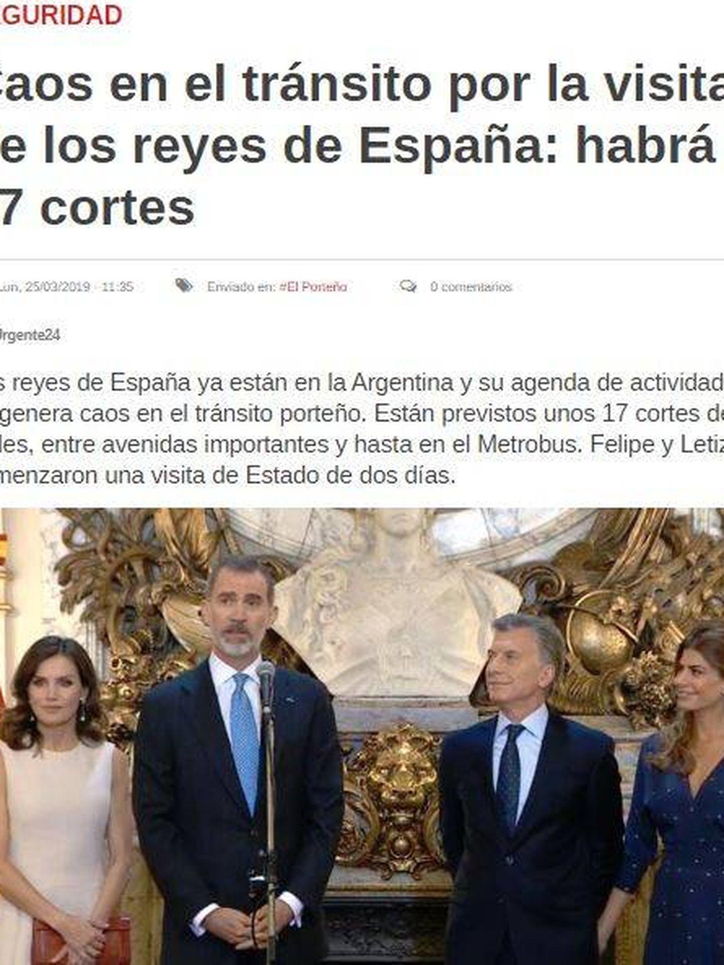 Imagen de la web del periódico 'Urgente 24'.