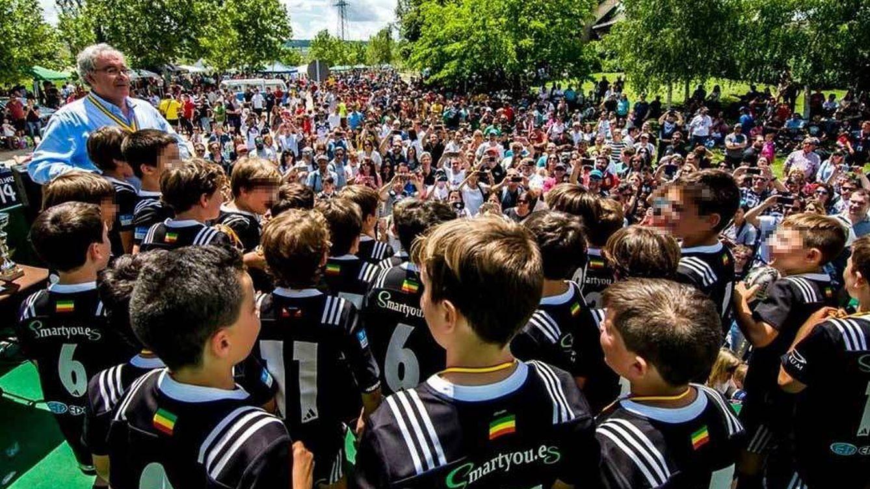 Foto: Imagen de los Campeonatos de Rugby Base 2018 disputados en el Pepe Rojo de Valladolid. (Foto: JCR)