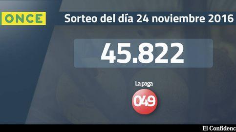 Resultados del sorteo de la ONCE del 24 de noviembre de 2016: número 45.822