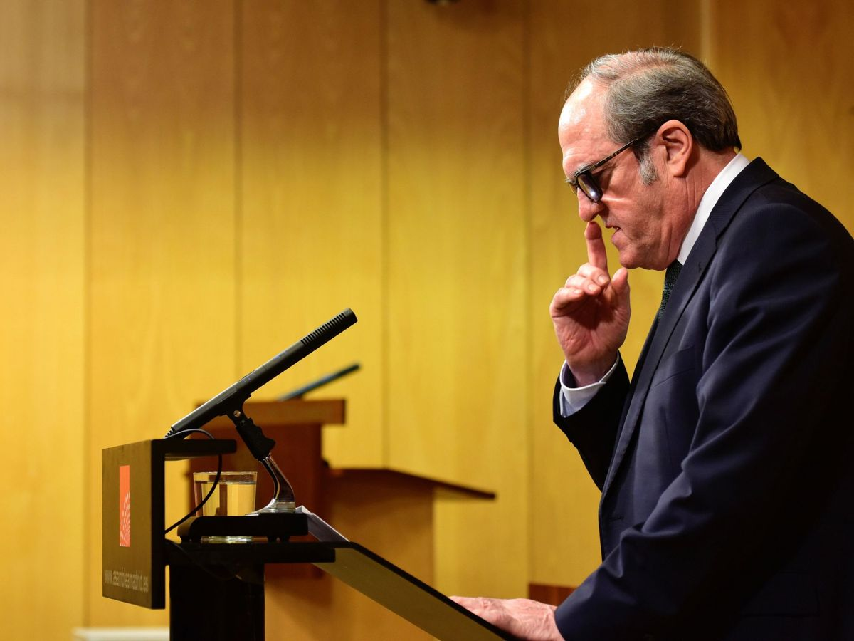 Foto: Ángel Gabilondo durante una rueda de prensa. (EFE)